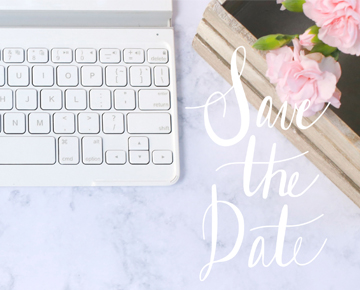 Macarons, save the date