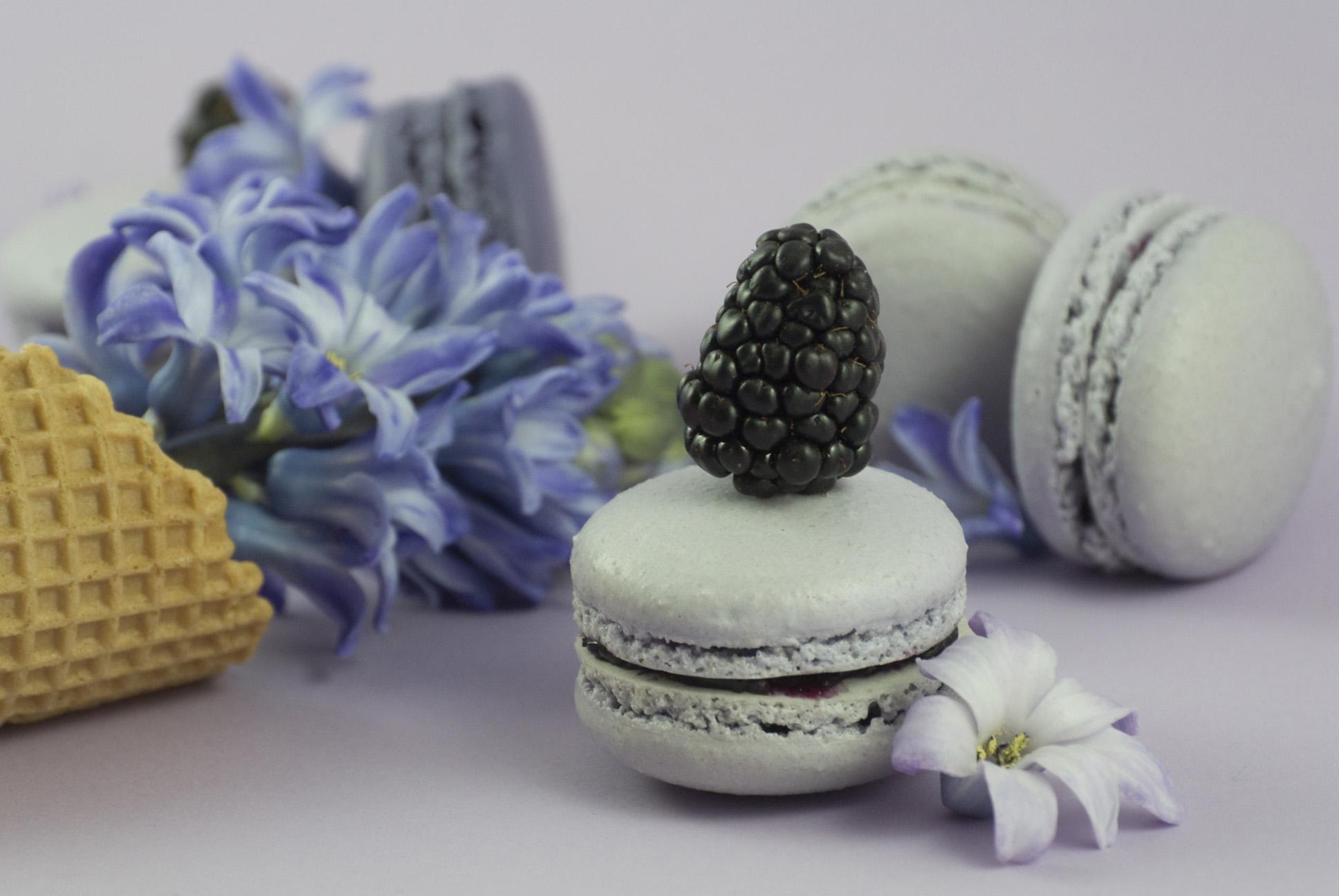 La petite Bellerose, Macaron Brombeere