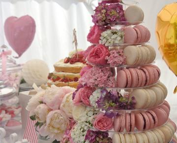 La petite Bellerose, Hochzeiten Macaron Pyramide