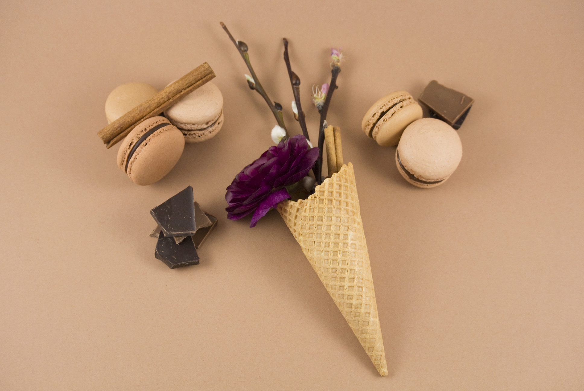 La petite Bellerose, Macaron Eis Chocolate