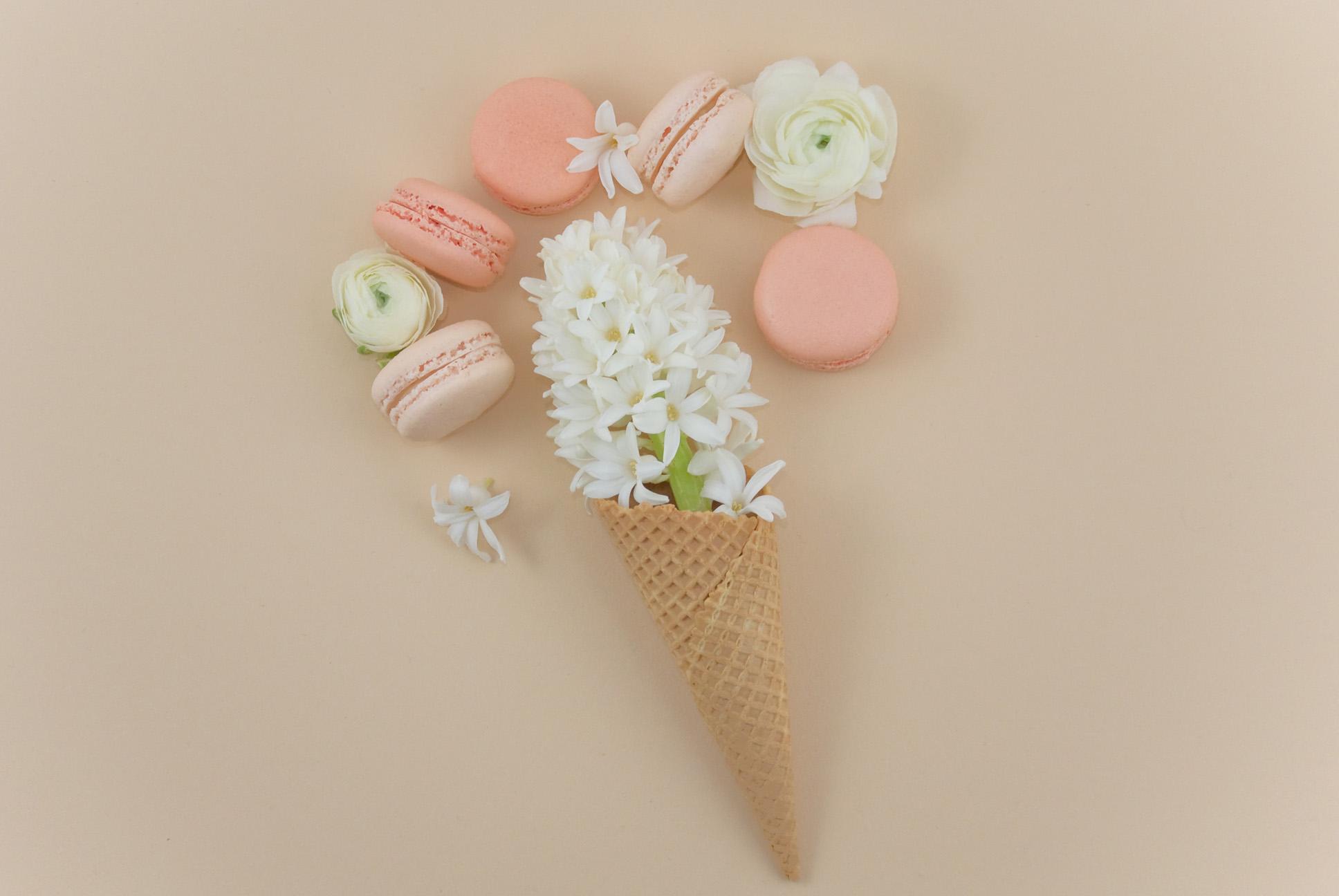 La petite Bellerose, Macaron Eis Peach