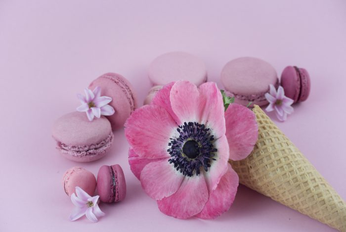 La petite Bellerose, Macaron Eis Rose