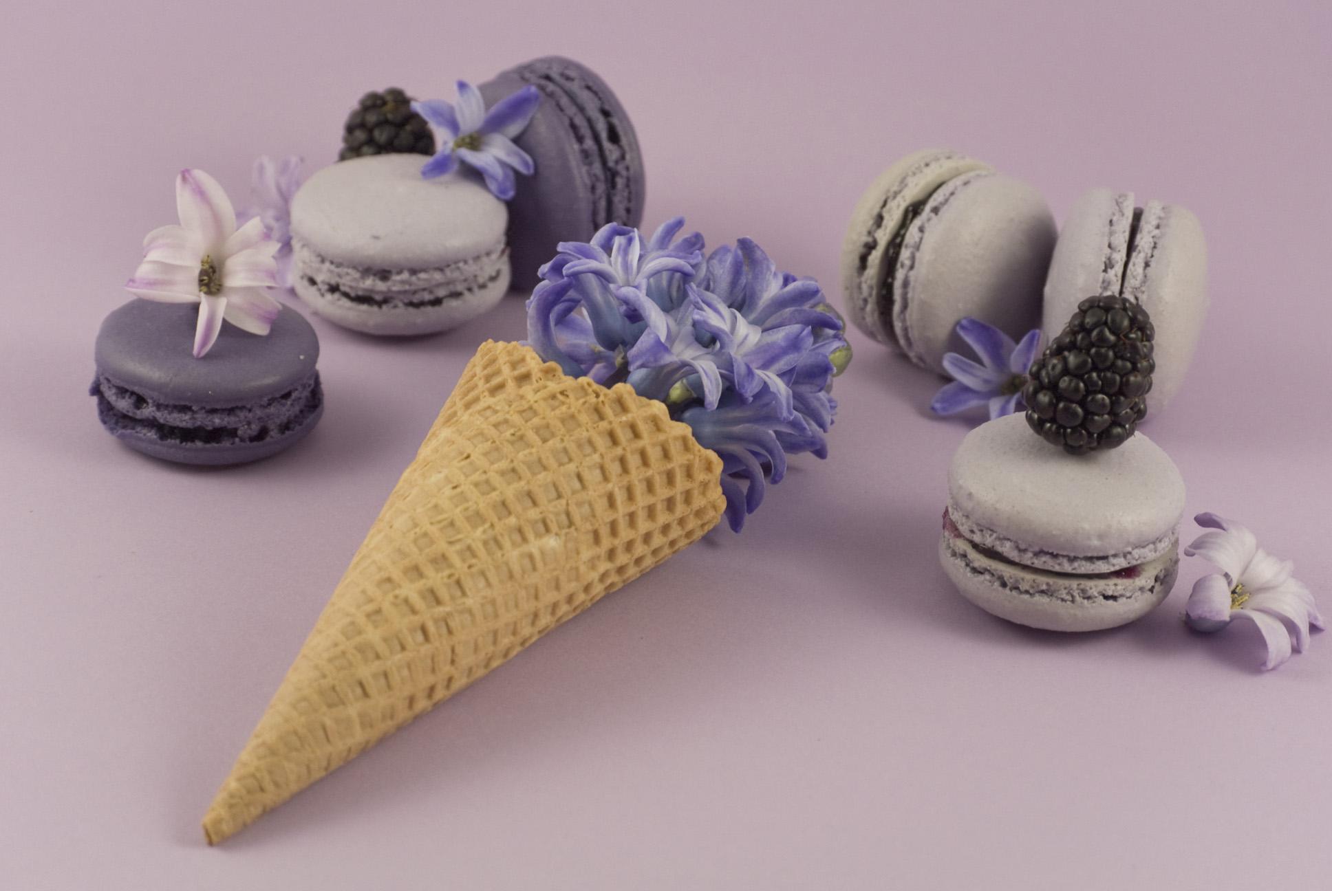 La petite Bellerose, Macaron Eis Violett